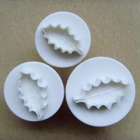 HB0367 Plastic 3pcs leaf thorn shaped cake fondant plunger cutters mold set