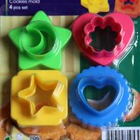 HB0376 plastic 4pcs flower design cutter set coookie cutters set fondant mold