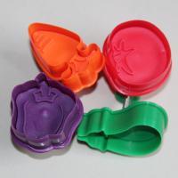 HB0389 Plastic 4pcs Vegetable shape plunger cutter set cookie cutter fondant mold
