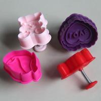 HB0393 Plastic 4pcs Love theme plunger cutter set
