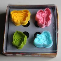 HB0394 Plastic 4pcs Animal shape plunger cutter set chocolate mold fondant mold