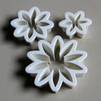 HB0439 Plastic Daisy cookie Cutter Mold fondant embosser cake decoration