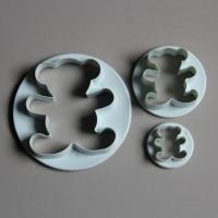 HB0457 Plastic Three Bear Shape Press Cookie Cutter Bakery accessories