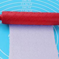 Small Plastic Heart Pattern Rolling Pin