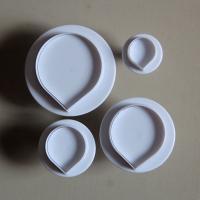 HB0509 Plastic 4pcs Bead Shape Cake Fondant Mold set plunger cutter biscuit mold