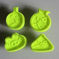HB0516 4pcs Plastic Birds&Pigs shape Cake Fondant plunger cutter set