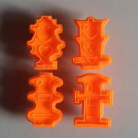 HB0517 Plastic Hydrangea macrophylla Fondant plunger Cutter set