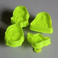 HB0518 Plastic 4pcs Star War Shape Cake Fondant Plunger Cutter set