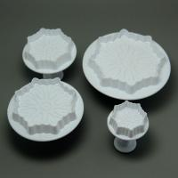 HB0527 Plastic 4pcs Different Size Calyx Cake Fondant Mold set
