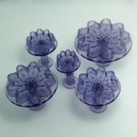 HB0535 5pcs Transparent Blossom Plunger Cutter Gum Paste Mold
