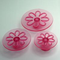 HB0561 3pcs transparent Chrysanthemum Press Mold Gum Paste Mold Famous Plunger Cutter