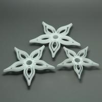 HB0565 3pcs Different Size Gum Paste Flowers Overlapping Petel