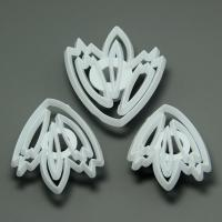 HB0566 3pcs Different Size Press  Fondant Mold Flowers fondant embosser