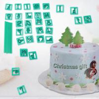 2017 New 29pcs Plastic Alphabet Letter &Symbol Cookie Cutters Set