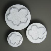 HB0629 3pcs Plant Lace shape Plunger Cutter Set cookie cutters set