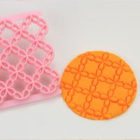 HB0687B  Plastic Mini flower shape fondant cookie embosser cutter mold