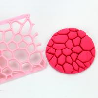 HB0687D  Plastic Diamond Leopard Pattern Shaped Biscuit Molds Icing Embosser Stencil Mould