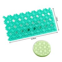HB0687S New design square shape fondant cookie embosser cutter mold