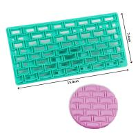 HB0687V New design geometric texture shape fondant cookie embosser cutter mold