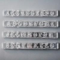 HB0691 Alphabet&Upper letters icing fondant stamp embosser