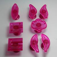 HB0747 Plastic cymbidium orchid shaped impressing set fondant embosser