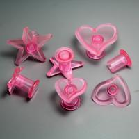 HB0755 Plastic 6pcs stars&hearts shape cake plunger cutter set