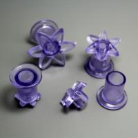 HB0761 Plastic 4pcs 6petals tiny daisy shaped impressing mould set