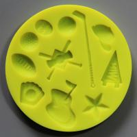 HB0812 sports tools silicone mold for cake fondant decorating