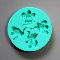 HB0840  Angel girl silicone mold for cake fondant decoration