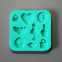 HB0878 New Fashion lady's items silicone cake fondant mold
