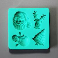 HB0880 Christmas theme silicone mold for cake fondant decoration
