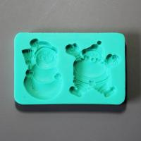 HB0881 Christmas Santa silicone mold for cake fondant decoration