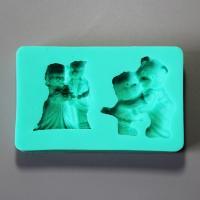 HB0882 Silicone Baby bear cake fondant mold