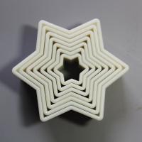 HB0946 7pcs star shaped nylon cutters set for cake decoration