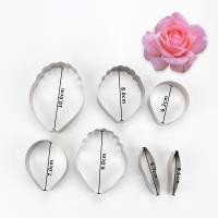 HB0958G 7pcs Stainless Steel Different Flowers and Leaves Shape Cookie Cutters set