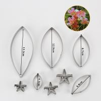 HB0958M 8pcs Stainless Steel Different Flowers and Leaves Shape Cookie Cutters set