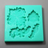 HB0964 Flower silicone mold for cake fondant decoration