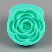 HB0997 New large rose silicone cake fondant mold