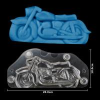 HB1058C Plastic Transparent Motorcycle Shape Chocolate Mould