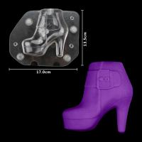 HB1059E Plastic Transparent Lady's High-Heel Shoe Shape Chocolate Mould
