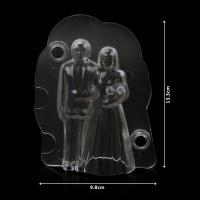 HB1060A New transparent wedding bride& groom 3d chocolate mould