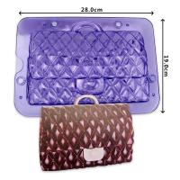 HB1060C Plastic Transparent Lady handbag chocolate mould