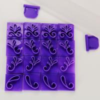 HB1076  Plastic 19pcs Scroll border Cake Fondant/Cookie press mold set