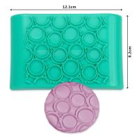2017 New Plastic round shape press cake ice fondant mold