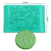 HB1093 New Plastic leaf shape press cake ice fondant mold