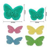 HB1094D New Plastic 2pcs Butterfly Shape Cake Fondant Press Mold set(Style D)