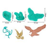 HB1094I Plastic 3pcs Birds&Anchor Shape Cake Fondant Press Mold set(Style I)