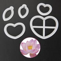 HB1095A Plastic Lotus 3D Cookie Cutters set
