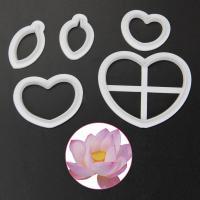 HB1095A Plastic Lotus 3D Cookie Cutters set