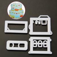 HB1095F Plastic Bus 3D Cookie Cutters/Molds set
